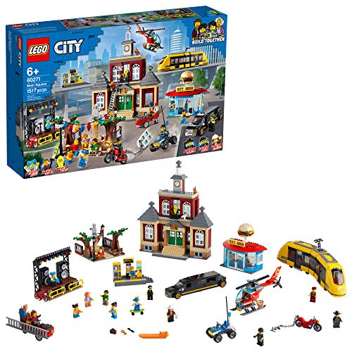 LEGO City Main Square 60271 Set, Cool Building Toy for Kids, New 2021 (1,517 Pieces)