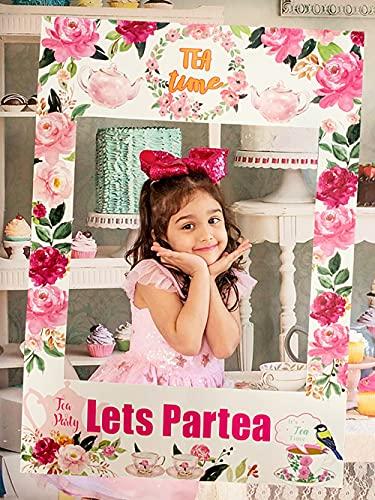 JeVenis Lets Partea Photo Booth Frame Partea Time Party Supplies Tea Party Supplies Lets Partea Photo Booth Props Tea…