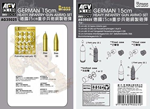 AFV Club 1:35 - Metal ammo for 15cm Sig 33 - AFVAG3525