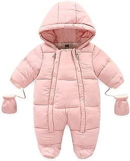 Ohrwurm Baby Onesie Down Jacket Fleece Lined Romper with Gloves Warm Winter Snowsuit