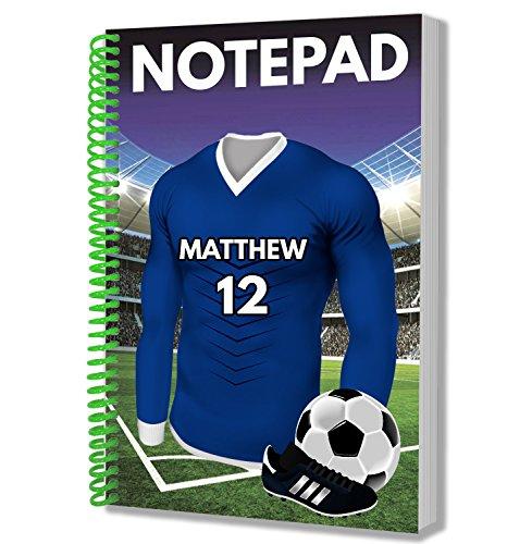 Personalisiertes Geschenk – Fußball-Trikot – A5 Notizblock – Notizbuch – Geburtstag – Weihnachten – Strumpffüller – Secret Santa – Name und Nummer hinzufügen Birmingham