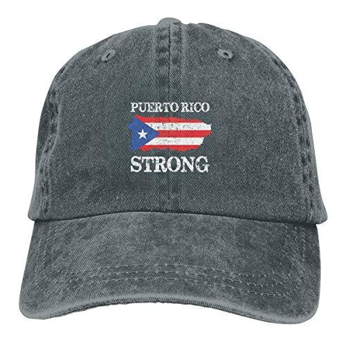 Presock Gorras De Béisbol Puerto Rico Strong Cowboy Cap Unisex Adjustable Dad Baseball Hat Deep Heather
