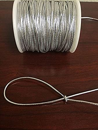 Metallic Elastic Stretch Tie Cords Trim Jewelry Cord 150 FT 1.5mm x 50 Yards