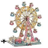 LCY Noria Feliz Modelo Adulto Juguetes De Madera 3D Juego De Rompecabezas De Madera Modelo De Construcción De Juguetes Educativos Kit para Niños