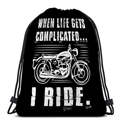 Drawstring Bundle Bag Sport Backpack Travelling Bag For Everyone motorcycle quote saying motorcycle quote saying best graphic your goods