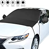 LinGear Car Windscreen Cover, Windscreen Cover Ice Frost Snow,Anti-UV Windshield Protector with Two Mirror Covers Waterproof Ice Heat Wind Dust Protection,Fits Most of Car SUV Truck Vans(205 * 150cm)