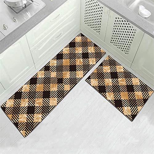 HLXX Alfombra de baño de Estilo étnico Moderno, Felpudo de Entrada, Pasillo, Sala de Estar geométrica, Alfombra Antideslizante para Exteriores A11, 40x60cm