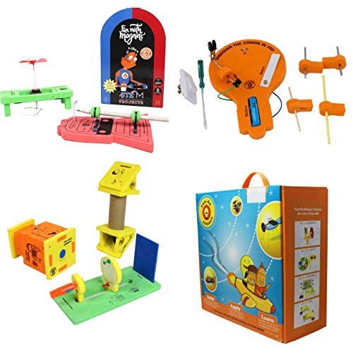 ButterflyFields STEM Toys Class 6 DIY Kits for Kids 10 Years to 12 Years Boys Girls Learning Toys for Kids Gift Box, 3in 1 Combo Fun Play Science Activity Box Magnet Circuit Board Periscope Camera