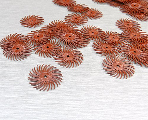 "3M Radial Bristle Discs 220 Grit Red 3m Mini Radial Brushes 3/4"" Pack of 12"