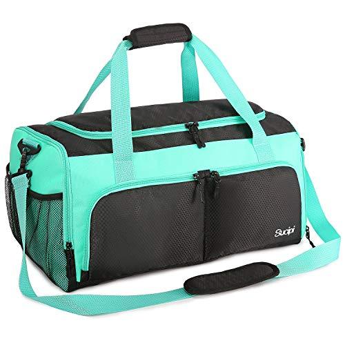 Sucipi Sporttaschen für Damen und Herren, Reisetasche mit Schuhfach und Nassfach, Große Kapazität und Wasserdicht für Wochenendtasche, Gym Bag, Trainingstasche, Schwimmtasche, Saunatasche