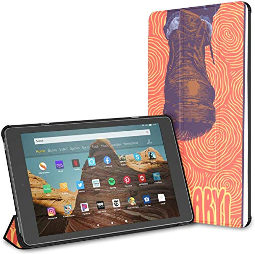 Estuche para Hermosa Tableta Vintage Boot Fire HD 10 (9a / 7a generación, versión 2019/2017) Cubierta para una Tableta Fire HD 10 Estuche HD 10 Kindle Fire Auto Wake/Sleep para Tableta de 10.1 pulg