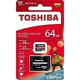 64GB microSDXCカード マイクロSD TOSHIBA 東芝 EXCERIA M303 CLASS10 UHS-I U3 A1 R:98MB/s W:65MB/s SDアダプタ付 海外リテール THN-M303R0640A2 [並行輸入品]