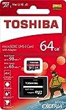 64GB microSDXCカード マイクロSD TOSHIBA 東芝 EXCERIA M303 CLASS10 UHS-I U3 A1 R:98MB/s W:65MB/s SDアダプタ付 海外リテール THN-M303R0640A2 並行輸入品