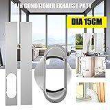 Juego de 2 placas deslizantes para ventana KKmoon para aire acondicionado port/átil con placa de sellado de aire