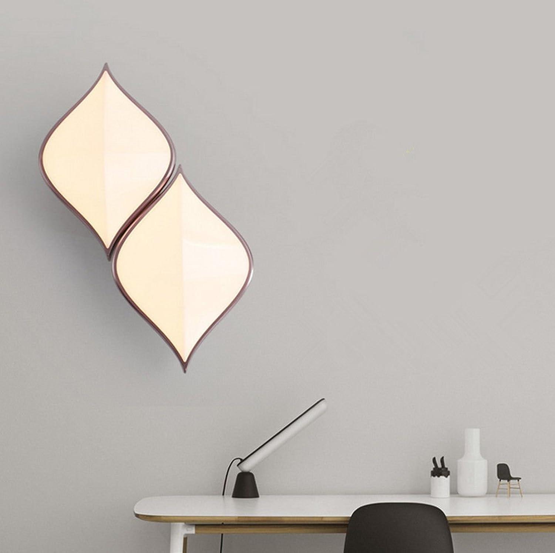 StiefelU LED Wandleuchte nach oben und unten Wandleuchten Wand Dekoration Licht LED-Wand lampe Nachttischlampe, double-Header, dreifarbig