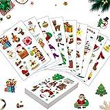 Sunshine smile 90Stück Weihnachten Stickers,Geschenk Aufkleber,Weihnachts Aufkleber, Sticker Etiketten,Weihnachten Sticker Scrapbooking,Weihnachtsaufkleber für Kinder,Weihnachtssticker...