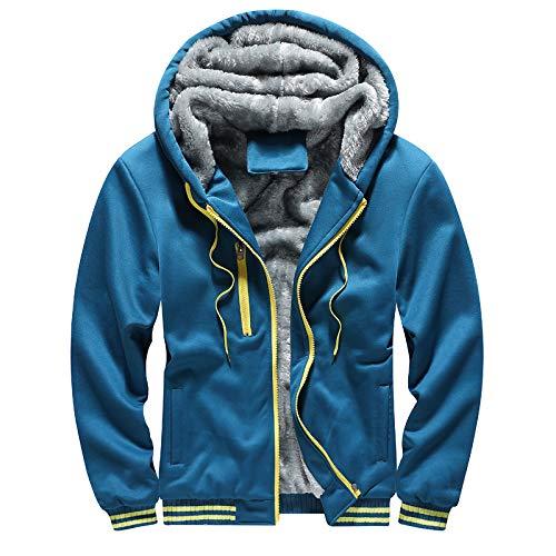 HOSD de Grueso más sólido Color suéter Invierno Terciopelo Nuevo de Informal cálida Chaqueta Gran Hombres para tamaño