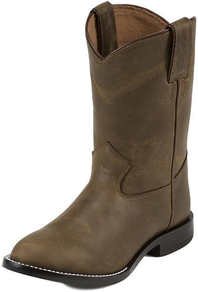 Justin Boys' Roper Cowboy Boot Round Toe
