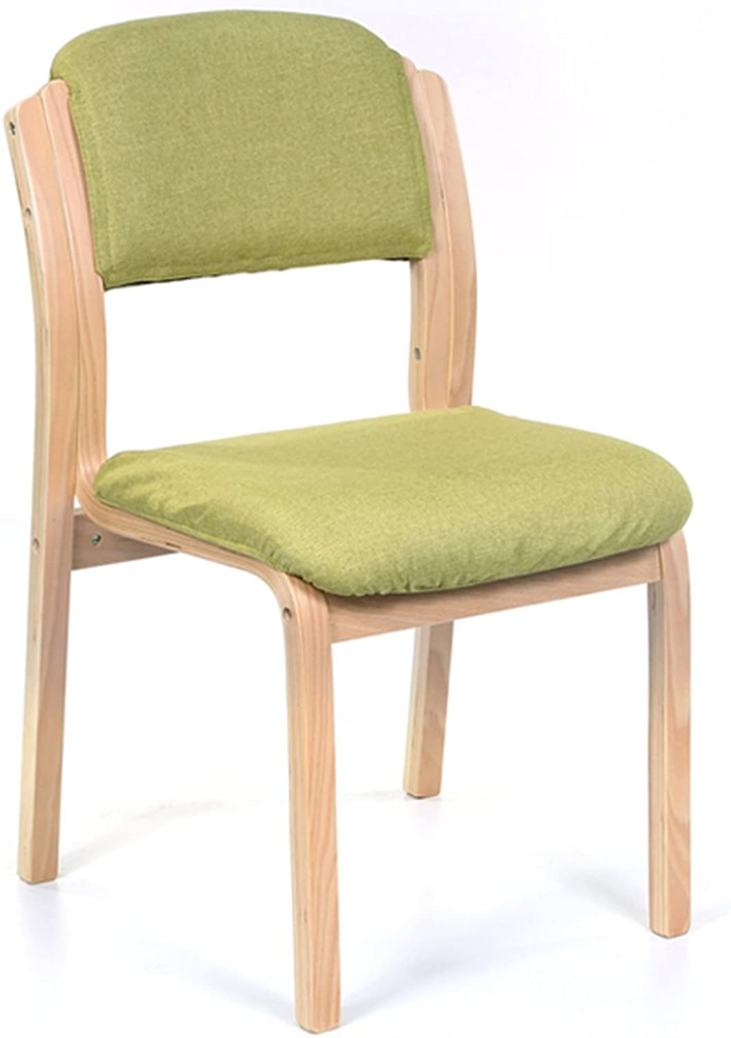 Chair, Household Cloth Cafe Dining chair Simple Hotels Chair Backrest European Wooden chair ( color    2 )