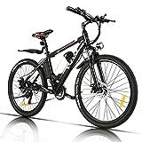 VIVI Elektrofahrrad Herren 26 Zoll Mountainbike mit 350W Motor,Abnehmbare 36V/8Ah Batterie...