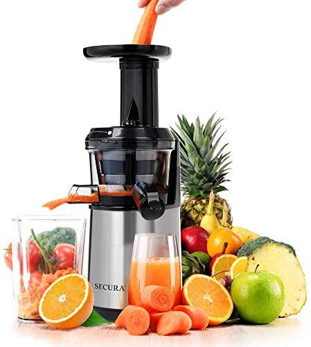 Secura Slow Juicer Masticating Juicer Big Mouth' Cold Press Juicer, Low Speed Juicer for High Nutrient Fruit and Veggies Juice