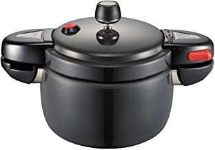Mini Pressure Cooker Rotary Opening and Closing Aluminum Alloy Explosion-proof Household Gas Small 1-6 People Home Kitchen Pressure Cookers (Size : 5.5L)