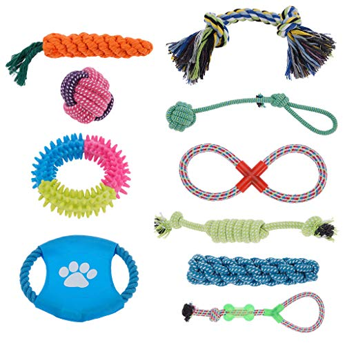 Small Dog Rope Toy Pack, Puppy Dog Chew Toys, Small Dog Toys, Puppy Toys for Chewing, Dog Rope Toys Dog Teething Toys Best Chew Toys for Teething Puppy 10 pcs Gift Set
