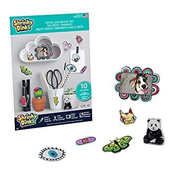 Shrinky Dinks Creative Pack 10 Crystal Clear Sheets Kids Arts and Crafts Activity Set by Just Play