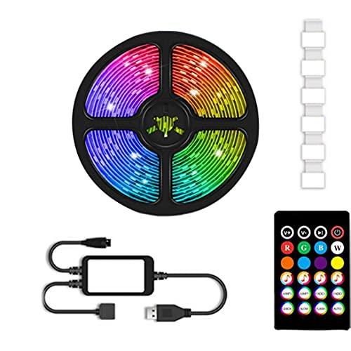 LIGHT LED TV, TV inalámbrico LED luces de tira para TV con Bluetooth 60 LEDS Romote Control RGB Strip Light para PC, dormitorio y monitor 2m para interiores