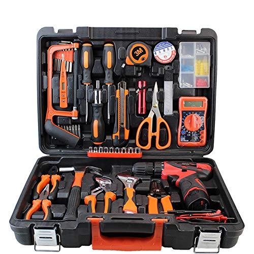 ZHANGXJ Taladro a Batería Kit de Herramientas Destornilladores, Martillo, Alicates Hogar y Oficina para Bricolaje Herramientas Mecánicas para Reparaciones Diarias
