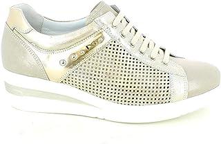 Nero Giardini - Sneaker in Pelle laserata Platino