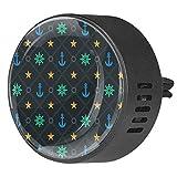2 Stück Auto Aromatherapie Essential Diffusor nautische Ruder Stern Anker Auto Lufterfrischer Vent Clip