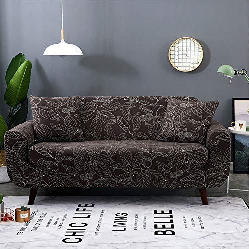 PPDD universele overtrek, bedrukt, elastisch, voor woonkamer, hoekbank, antislip, gezellig, 3-zits, verbleekt niet.