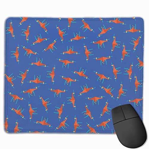 Alfombrilla de ratón para Ordenador portátil, PC, diseños de Personalidad, Alfombrilla de ratón para Juegos, 25X30 CM (Cool Drone Seamless Pattern)