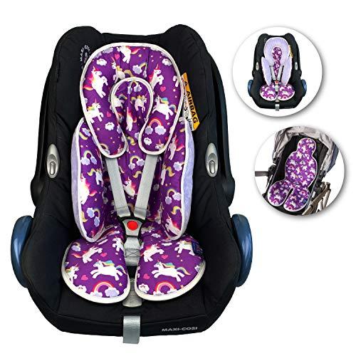 BY4TEN Sitzverkleinerer für Kindersitz Auto und Hochstuhl, Sitzauflage Buggy, Kinderwageneinlage Sommer Atmungsaktiv und Anti-Schweiß
