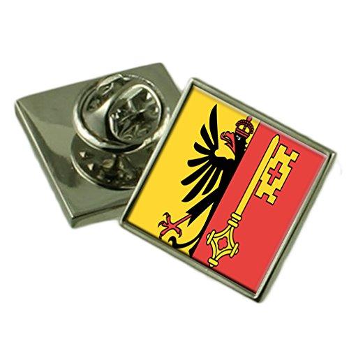 Select Gifts La Ciudad de Ginebra Suiza Bandera Insignia de Solapa Cuadro Grabado