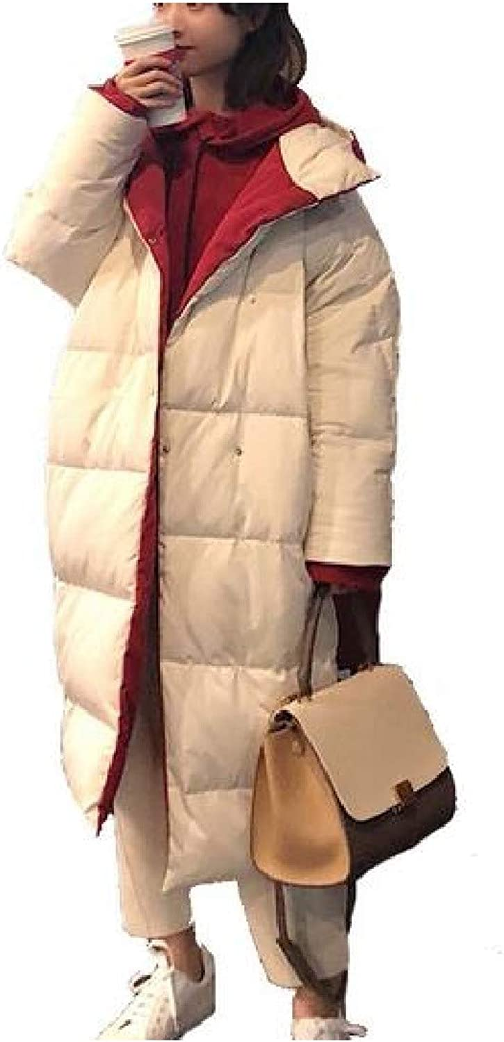 Cobama Womens Reversible Mid Long CocoonStyle Packable Down Quilted Jacket