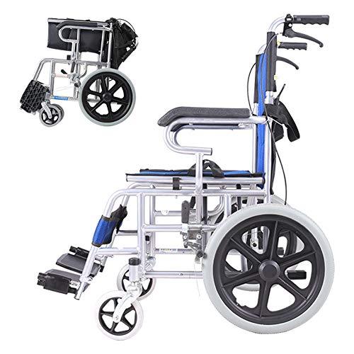 Omein Rollstuhl-Folding Leichte ältere Behinderte Trolley Kleiner Old Ultralight beweglicher Scooter Vollrad Freies Schlauchboot