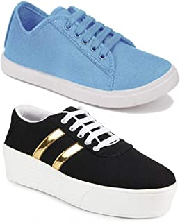 Shoefly Women Multicolour Latest Collection Sneakers Shoes- Pack of 2 (Combo-(2)-1044-5002)