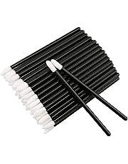 100 STKS Wegwerp Lip Gloss Borstel, Zwarte Lipstick Concealer Borstels Lip Applicator Wands Perfecte Make-up Tool Kits