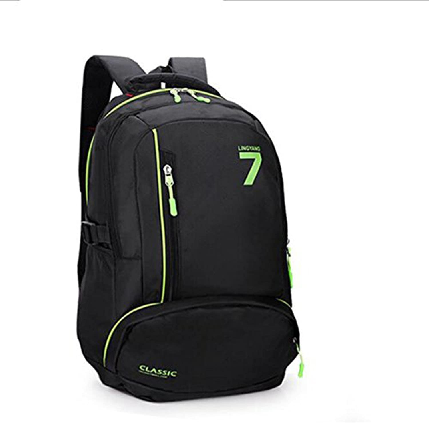 Outdoor Backpack Sports Casual Bags Male and Female Couples Fashion Backpacks,Green