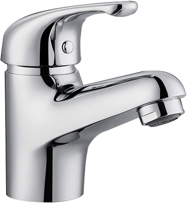 ZTMN Wasserhahn Warmes und kaltes Waschbecken Reines Kupfernetz Blei Waschbecken Wasserhahn Waschbecken Einlochmontage Einhand-Wasserhahn mit Schlauch (Design  A)