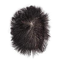 RemeeHi ウィッグ 中高年男性用かつら ヘアピース 部分ウィッグ 白髪隠れ 人毛100% ショート 通気性がよい カバーヘアピース つけ毛 増毛 医療用かつら