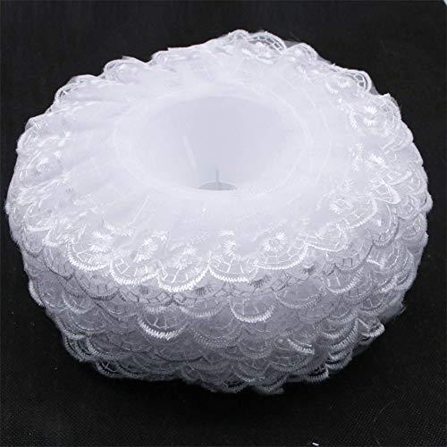 6Pcs Lace Bouquet Collar, Lace Collar DIY Bouquet Holder Wedding Bridal Bouquet Collar White Lace Decoration Bouquet Holder