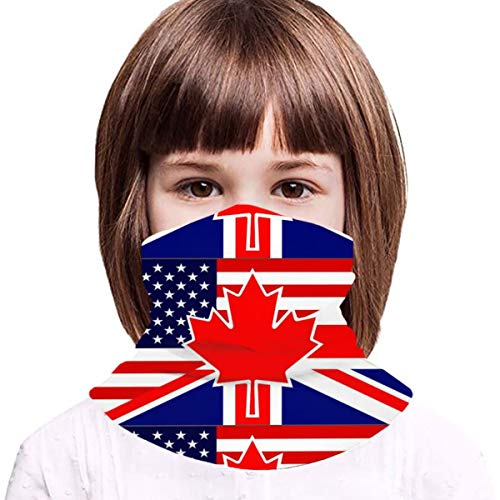 Kids North American British Flag UV Protection Face Cover Neck Gaiter for Hot Summer Cycling Hiking Sport Outdoor