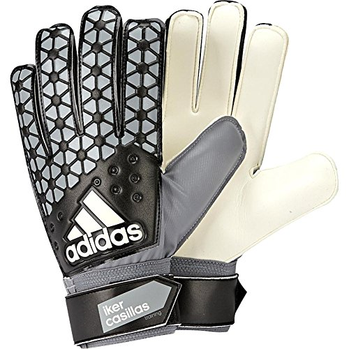 adidas Ace Training IC Guantes de Portero, Unisex, Blanco/Negro/Gris, XL