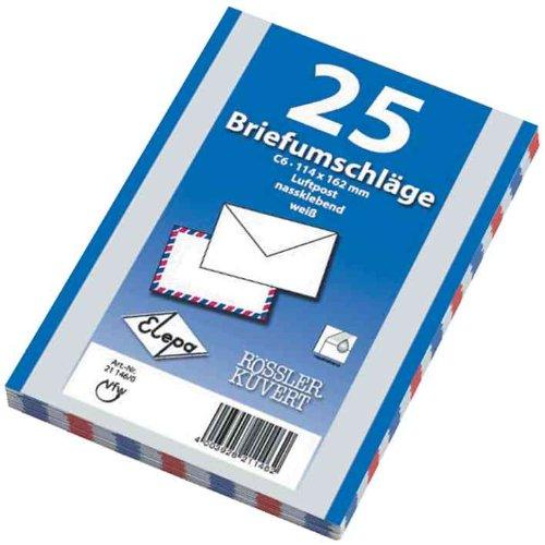 25 Luftpost Briefumschläge Din C6 Luftpostumschläge