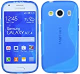 Samsung Galaxy Ace 4G357FZ//Silicona Móvil Bumper Carcasa Funda De Silicona En Azul @ Energmix