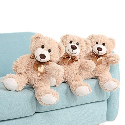 MaoGoLan Teddy Bear Stuffed Animals Plush Toys 3 Tan Stuffed Bears Bulk for Girls 13.5 Inches