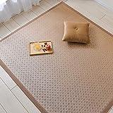 い草 上敷き ラグ 畳 マットレス 子供用クロールマット クール 肥厚子供用ゲームマット ヨガマット(0.8x2M)